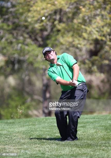 Steven Bowditch takes his shot on the 10th during the Final Round of the Valero Texas Open at TPC San Antonio ATT Oaks Course on March 30 2014 in San...