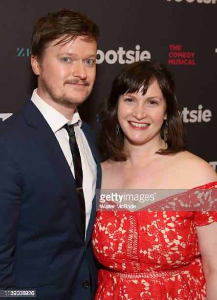 Steven Boyer and Emily Boyer attend the Broadway Opening Night of 'Tootsie' at The Marquis Theatre on April 22 2019 in New York City