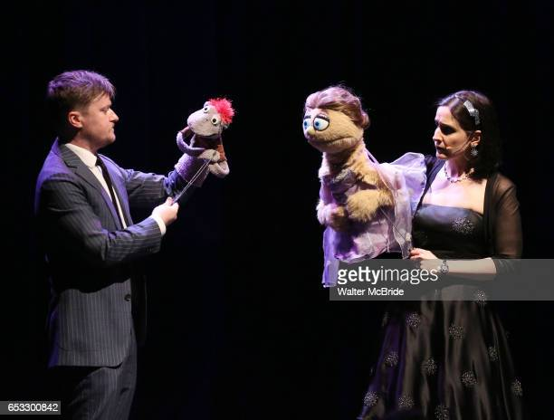 Steven Boyer Tyrone Kate Monster and Stephanie D'Abruzzo perform at the Vineyard Theatre 2017 Gala at the Edison Ballroom on March 13 2017 in New...