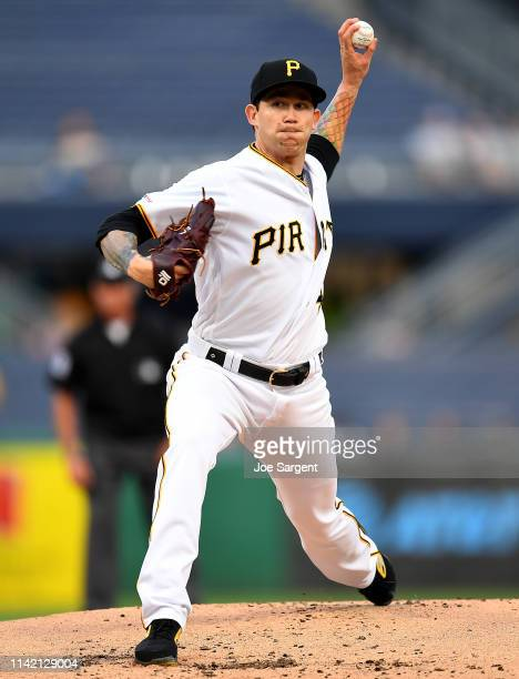 Steven Brault of the Pittsburgh Pirates delivers a pitch during the second inning against the Texas Rangers at PNC Park on May 7, 2019 in Pittsburgh,...