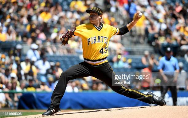 Steven Brault of the Pittsburgh Pirates delivers a pitch in the first inning during the game against the San Diego Padres at PNC Park on June 23,...