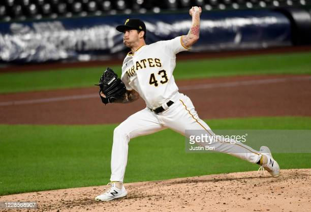 Steven Brault of the Pittsburgh Pirates delivers a pitch in the ninth inning during the game against the St. Louis Cardinals at PNC Park on September...