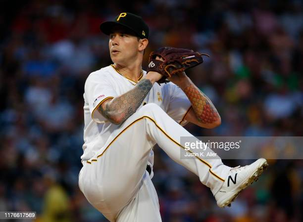 Steven Brault of the Pittsburgh Pirates in action against the St. Louis Cardinals at PNC Park on September 7, 2019 in Pittsburgh, Pennsylvania.