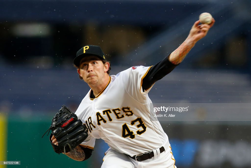 Steven Brault #43 of the Pittsburgh Pirates pitches in the first inning against the Colorado Rockies at PNC Park on April 16, 2018 in Pittsburgh, Pennsylvania.