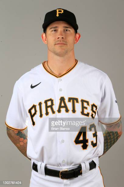Steven Brault of the Pittsburgh Pirates poses for a photo during the Pirates' photo day on February 19, 2020 at Pirate City in Bradenton, Florida.