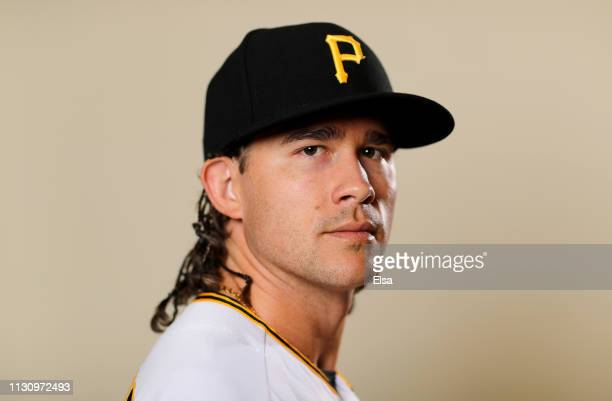 Steven Brault of the Pittsburgh Pirates poses for a portrait during the Pittsburgh Pirates Photo Day on February 20, 2019 at Pirate City in...