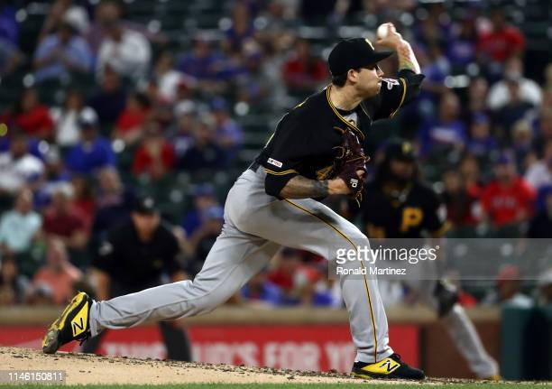 Steven Brault of the Pittsburgh Pirates throws against the Texas Rangers in the fifth inning at Globe Life Park in Arlington on April 30, 2019 in...
