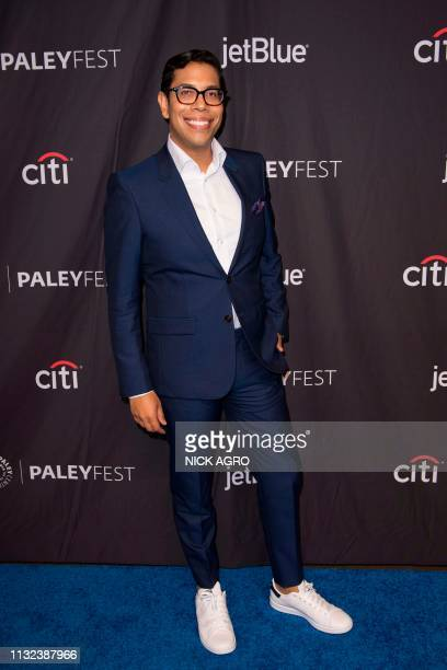 Steven Canals arrives for Paley Center for Media's 2019 PaleyFest LA panel and screening of 'Pose' on March 23 2019 at the Dolby Theater in Hollywood