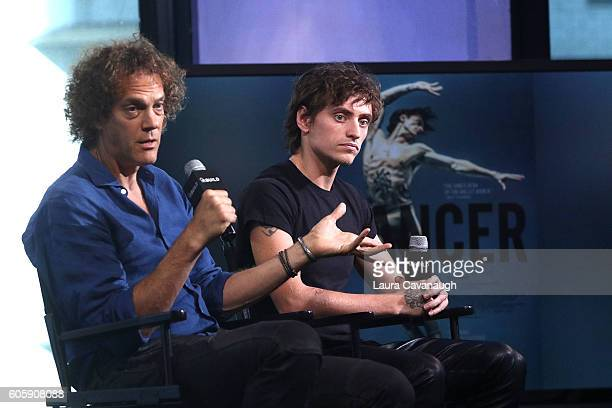 Steven Cantor and Sergei Polunin attend The BUILD to discuss 'Dancer' at AOL HQ on September 15 2016 in New York City