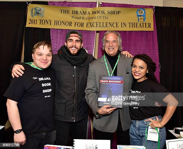 "Steven Carl McCasland, Josh Segarra, Stewart F. Lane and Kalyne Coleman attend the Stewart F. Lane Book Signing Of ""Black Broadway"" At BroadwayCon at..."