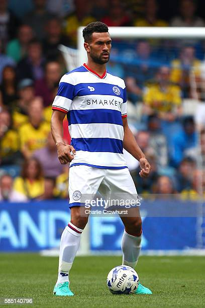 Steven Caulker of QPR during the pre season friendly match between Queens Park Rangers and Watford at Loftus Road on July 30 2016 in London England
