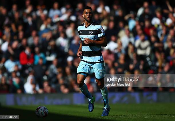 Steven Caulker of QPR in action during the Sky Bet Championship match between Fulham and Queens Park Rangers at Craven Cottage on October 1 2016 in...