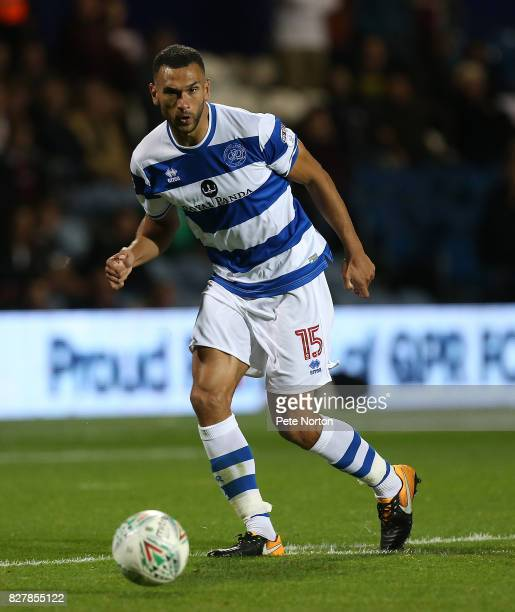 Steven Caulker of Queens Park Rangers in action during the Carabao Cup first round match between Queens Park Rangers and Northampton Town at Loftus...