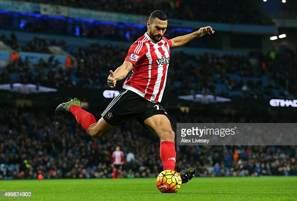 Steven Caulker of Southampton during the Barclays Premier League match between Manchester City and Southampton at Etihad Stadium on November 28 2015...