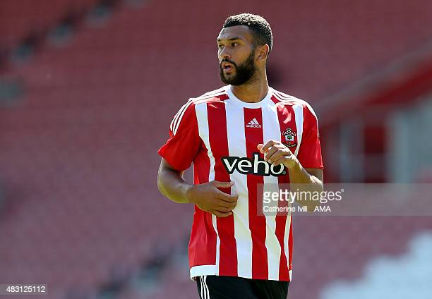 Steven Caulker of Southampton during the preseason friendly between Southampton and Espanyol at St Mary's Stadium on August 2 2015 in Southampton...