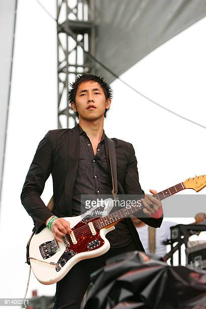 Steven Chen of The Airborne Toxic Event performs on day 2 of the Austin City Limits Music Festival at Zilker Park on October 3, 2009 in Austin, Texas.