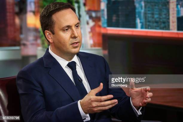 Steven Ciobo Australia's trade and investment minister speaks during a Bloomberg Television interview in New York US on Thursday Feb 22 2018 Ciobo...