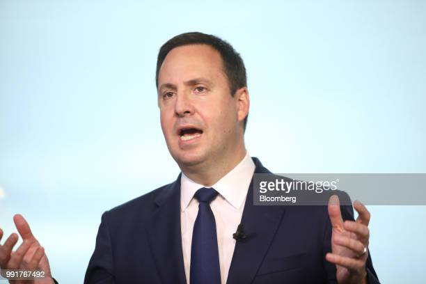 Steven Ciobo Australia's trade tourism and investment minister speaks during a Bloomberg Television interview in Tokyo Japan on Thursday July 5 2018...