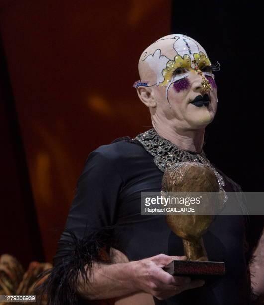 Steven Cohen lors de la remise des Topor d'Or 2018, événement conçu et réalisé par Jean Michel Ribes, prix de l'inattendu du spectacle vivant au...