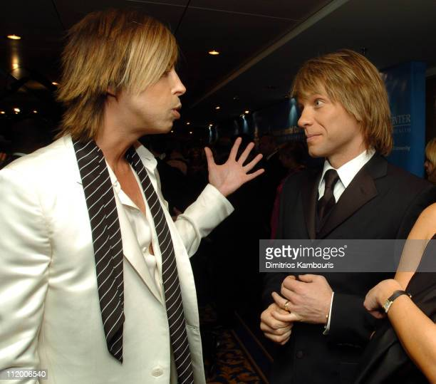Steven Cojocaru and Jon Bon Jovi during Entertainment Industry Foundation's Colon Cancer Benefit on the QM2 Red Carpet at Queen Mary 2 in New York...