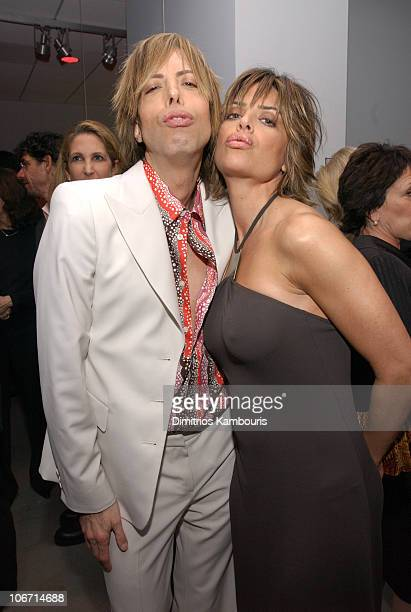 Steven Cojocaru and Lisa Rinna during Emporio Armani Celebrates Publication of Red Carpet Diaries Confessions of a Glamour Boy at Emporio Armani in...