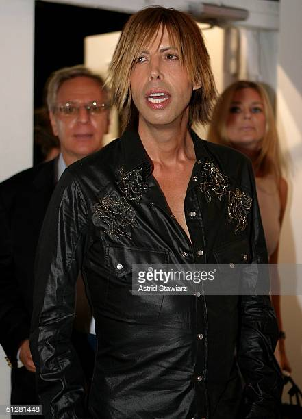 Steven Cojocaru poses for a picture during the Olympus Fashion Week Spring 2005 at Bryant Park September 9, 2004 in New York City.