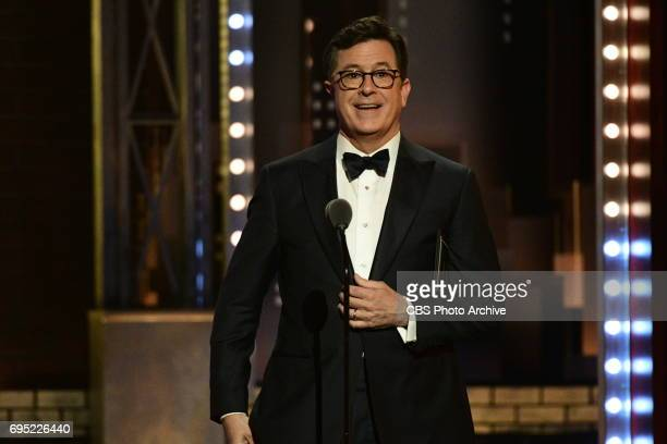 Steven Colbert at THE 71st ANNUAL TONY AWARDS broadcast live from Radio City Music Hall in New York City on Sunday June 11 2017 on the CBS Television...