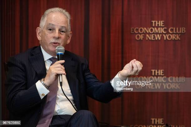 Steven Corwin president and chief executive officer of New YorkPresbyterian Hospital speaks during an Economic Club of New York event in New York US...