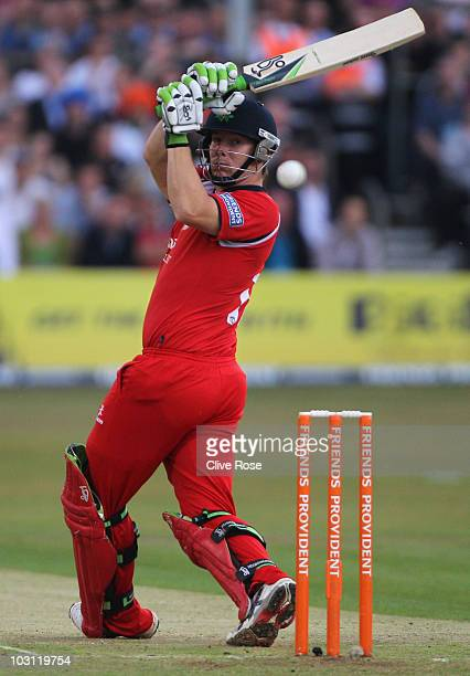 Steven Croft of Lancashire in action during the Friends Provident T20 match between Essex and Lancashire on July 27 2010 in Chelmsford England