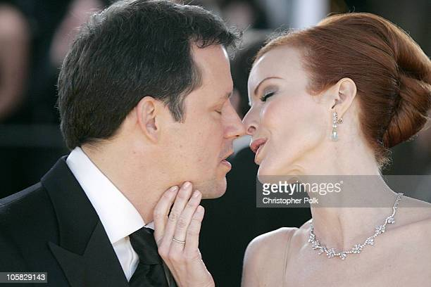 Steven Culp and Marcia Cross during 31st Annual People's Choice Awards Arrivals at Pasadena Civic Auditorium in Pasadena California United States