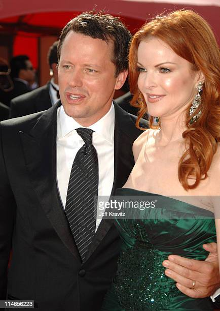 Steven Culp and Marcia Cross during 57th Annual Primetime Emmy Awards Red Carpet at The Shrine in Los Angeles California United States