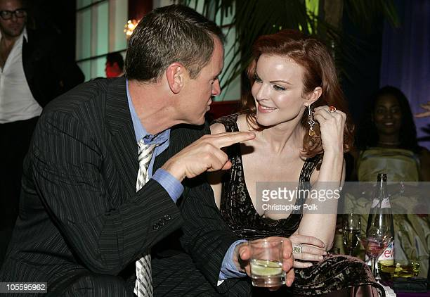 Steven Culp and Marcia Cross during Instyle/Warner Bros Golden Globe Awards Post Party Inside at Beverly Hills Hilton in Beverly Hills California...