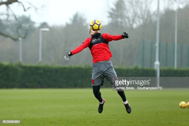 Steven Davis during a Southampton FC training session at Staplewood Complex on January 11 2018 in Southampton England
