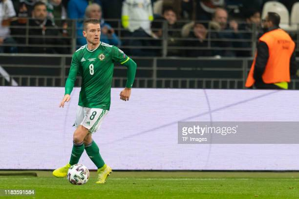 Steven Davis of Northern Ireland controls the ball during the UEFA Euro 2020 Qualifier between Germany and Northern Ireland at Commerzbank Arena on...