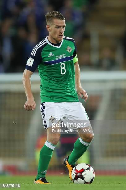 Steven Davis of Northern Ireland during the FIFA 2018 World Cup Qualifier between Northern Ireland and Czech Republic at Windsor Park on September 4...