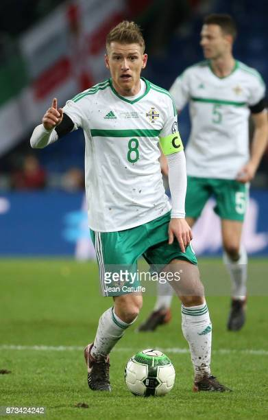 Steven Davis of Northern Ireland during the FIFA 2018 World Cup Qualifier PlayOff Second Leg between Switzerland and Northern Ireland at St JakobPark...