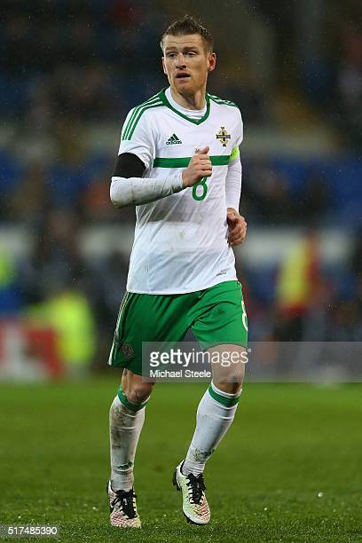 Steven Davis of Northern Ireland during the International Friendly match between Wales and Northern Ireland at Cardiff City Stadium on March 24 2016...