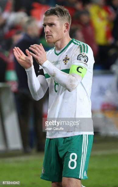 Steven Davis of Northern Ireland following the FIFA 2018 World Cup Qualifier PlayOff Second Leg between Switzerland and Northern Ireland at St...