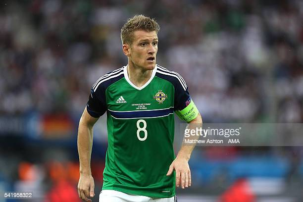 Steven Davis of Northern Ireland looks on during the UEFA EURO 2016 Group C match between Northern Ireland and Germany at Parc des Princes on June 21...