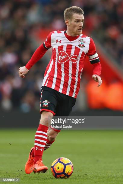 Steven Davis of Southampton during the Premier League match between Southampton and West Ham United at St Mary's Stadium on February 4 2017 in...
