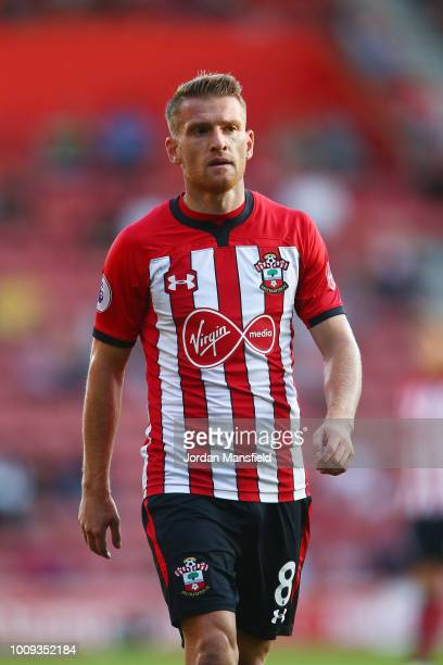 Steven Davis of Southampton in action during the PreSeason Friendly match between Southampton and Celta Vigo at St Mary's Stadium on August 1 2018 in...
