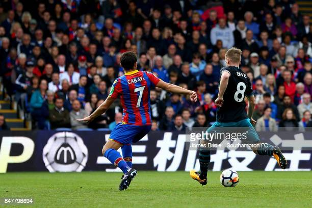 Steven Davis scores for Southampton FC during the Premier League match between Crystal Palace and Southampton at Selhurst Park on September 16 2017...