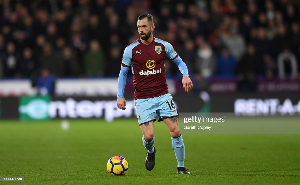 Steven Defour of Burnley during the Premier League match between Huddersfield Town and Burnley at John Smith's Stadium on December 30, 2017 in Huddersfield, England.