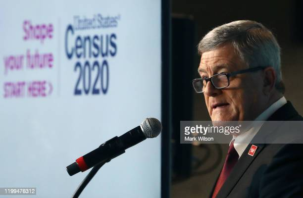 Steven Dillingham, director of the Census Bureau, speaks while unveiling the advertising outreach campaign for the 2020 Census, on January 14, 2020...