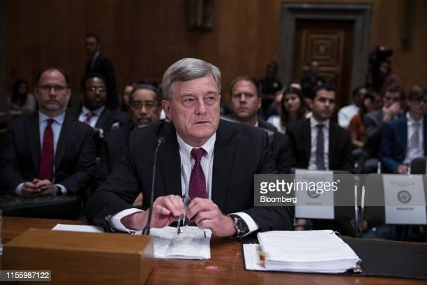 Steven Dillingham director of US Census Bureau listens during a Senate Homeland Security and Governmental Affairs Committee hearing in Washington DC...