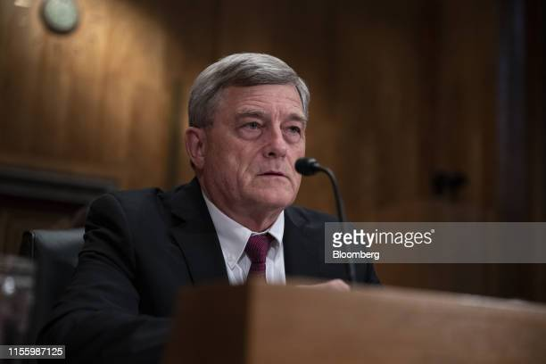 Steven Dillingham director of US Census Bureau speaks during a Senate Homeland Security and Governmental Affairs Committee hearing in Washington DC...