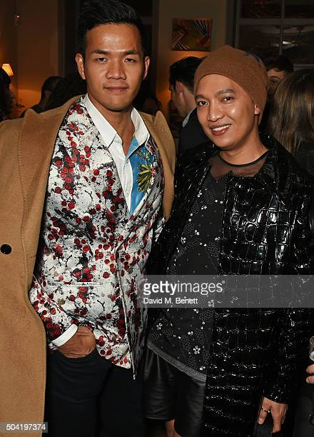 Steven Doan and Bryanboy attend COACH Men's Fall/Winter 2016 Party hosted by Stuart Vevers at The Lady Ottoline on January 9 2016 in London England
