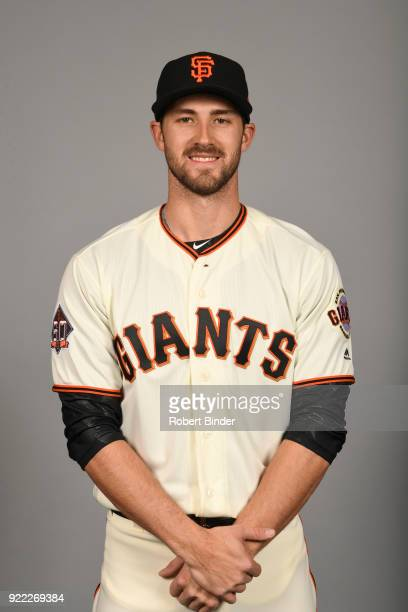 Steven Duggar of the San Francisco Giants poses during Photo Day on Tuesday February 20 2018 at Scottsdale Stadium in Scottsdale Arizona