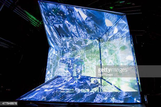 Steven Ellison of Flying Lotus performs on stage during day 3 of Sonar Music Festival on June 20 2015 in Barcelona Spain