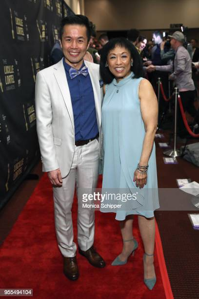 Steven Eng and Baayork Lee attend the 33rd Annual Lucille Lortel Awards on May 6 2018 in New York City